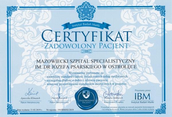 Certyfikat - 1